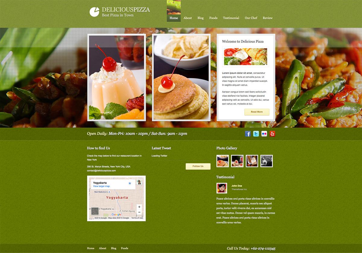 restaurant WordPress designs