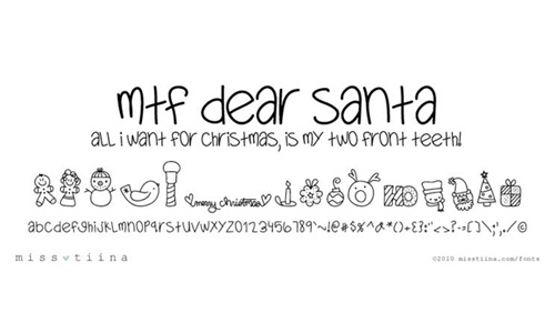Christmas doodle fonts sketch free