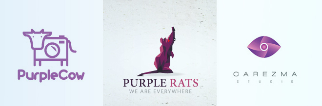 30+ Elegant and Fashionable Purple Design Logo
