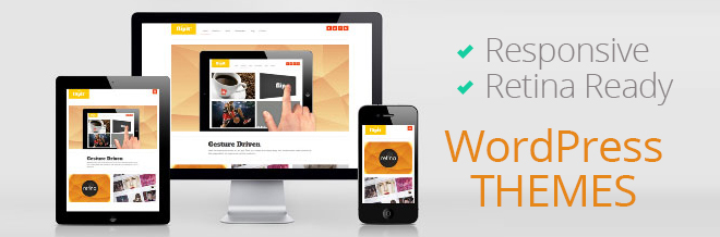 40+ Premium Responsive and Retina Display Ready WordPress Themes