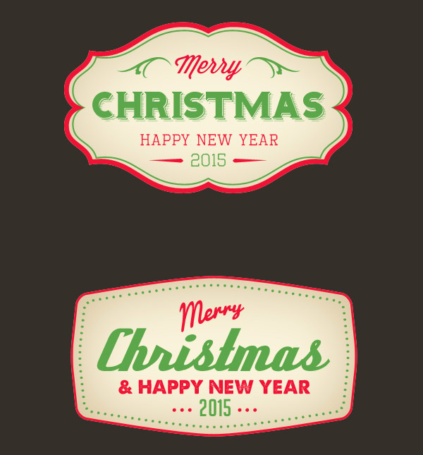 PSD Christmas badges