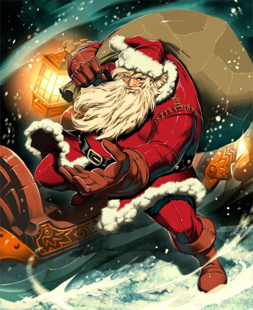 Cool santa claus christmas artworks illustrations