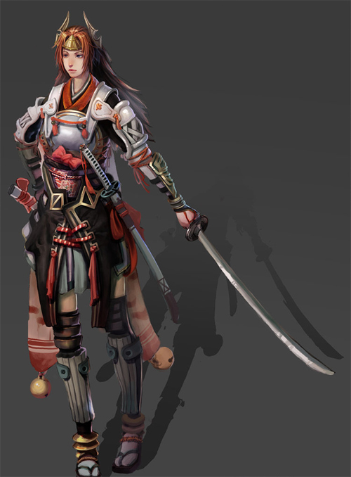 Female swordsman artworks illustrations