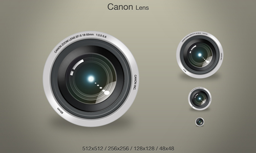 Canon Lens icons