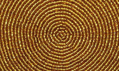 Gold Bead Halo Circle Texture