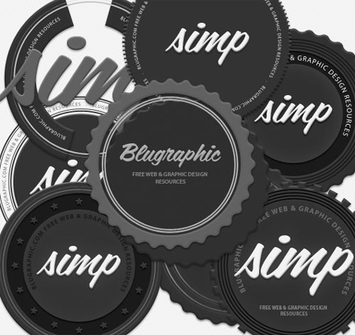circle badges for Photoshop