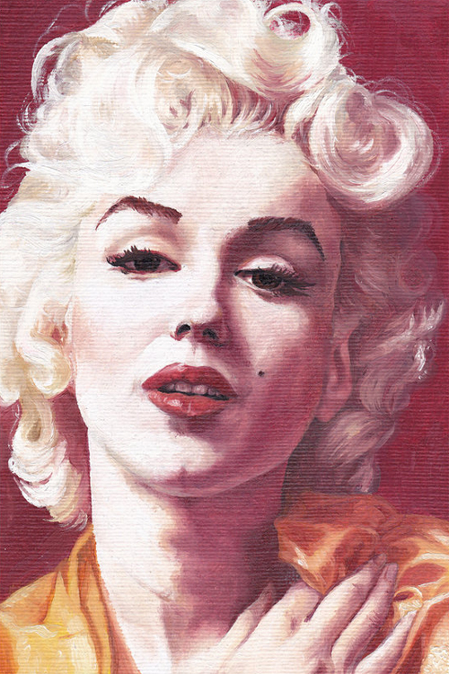 Painting marilyn monroe artworks illustrations