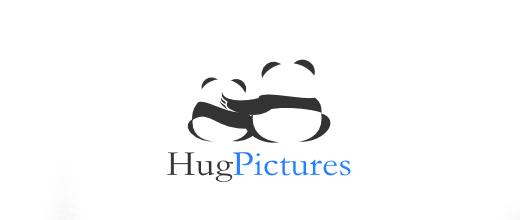 Hug friends panda logo
