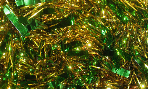 Shiny tinsel gold christmas textures