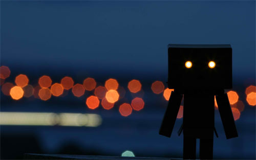 Danbo at Night_79385 Wallpaper