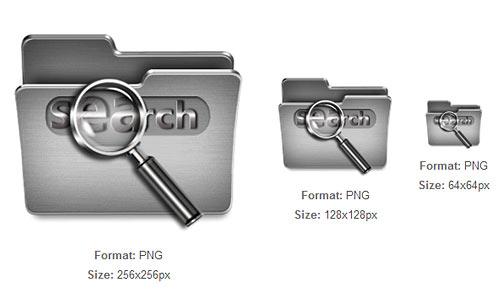 Search Steel Folder icon
