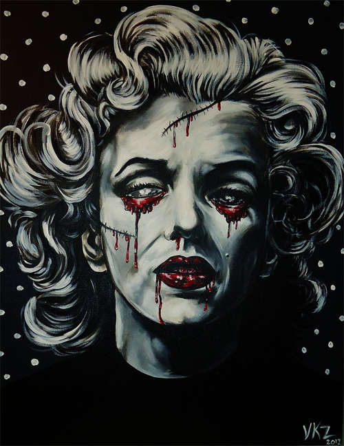 Zombie marilyn monroe artworks illustrations