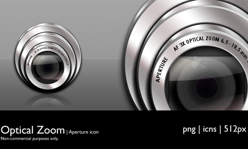 Optical Zoom icons