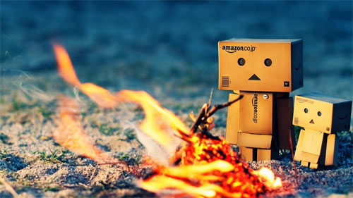 Danbo Warming Fire wallpapers
