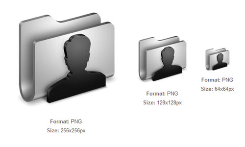 3D User Folder White icon