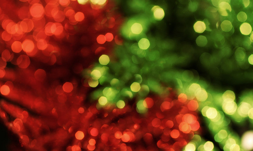 Green red bokeh christmas textures