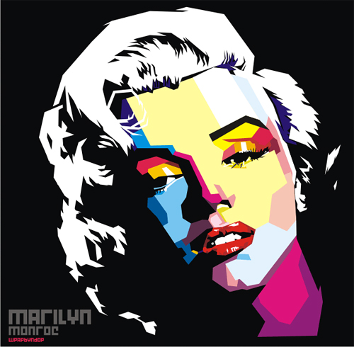 Pop art marilyn monroe artworks illustrations