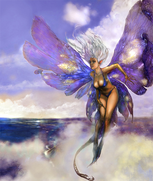 Violet purple fairy illustrations artworks