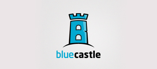 Blue castle logo