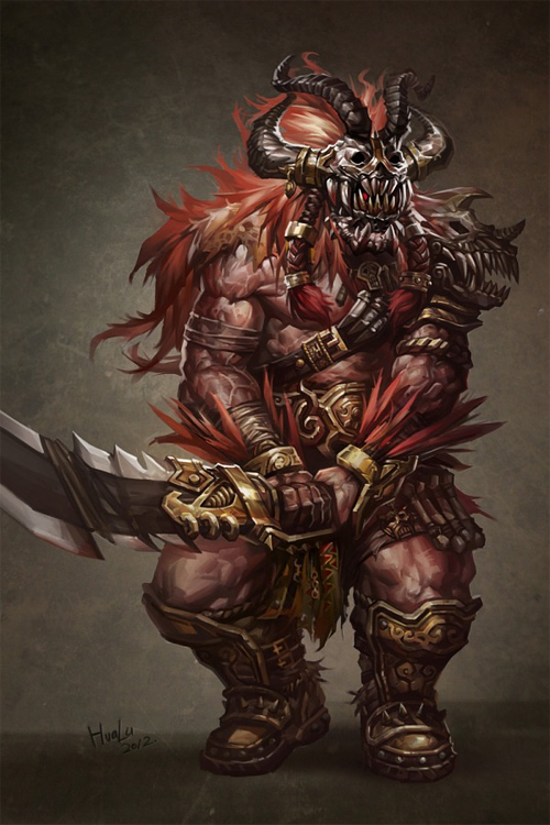 Skull barbarian swordsman artworks illustrations