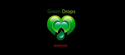 GREEN DROPS - ecoLove logo