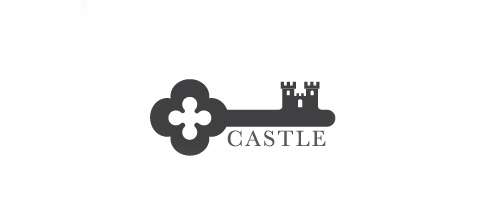 Key castle logo