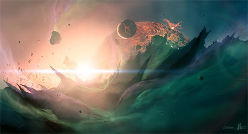 Oblivion end world illustrations