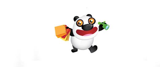 Online shop panda logo