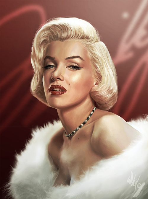 Portrait beautiful marilyn monroe artworks illustrations