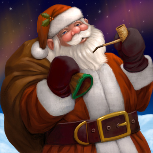 Jolly santa claus christmas artworks illustrations