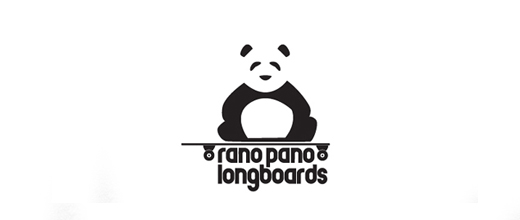 Long board panda logo