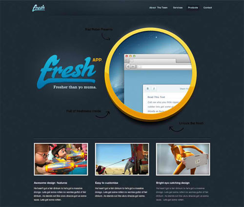 Fresh App - Free Website PSD & Free PSDs