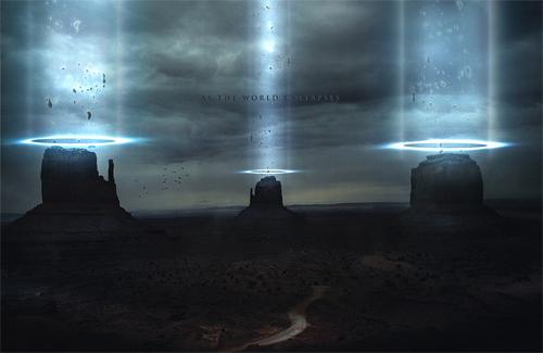 Alien end world illustrations