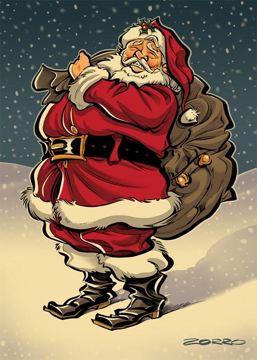 Bag of gifts santa claus christmas artworks illustrations