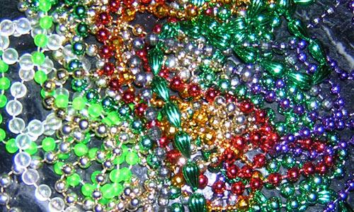 mardi gras beads texture