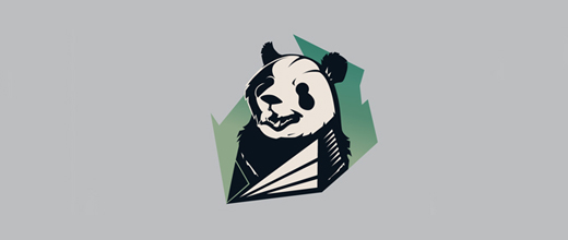 Retro panda logo