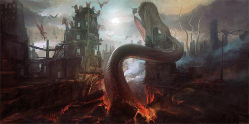 Demon end world illustrations