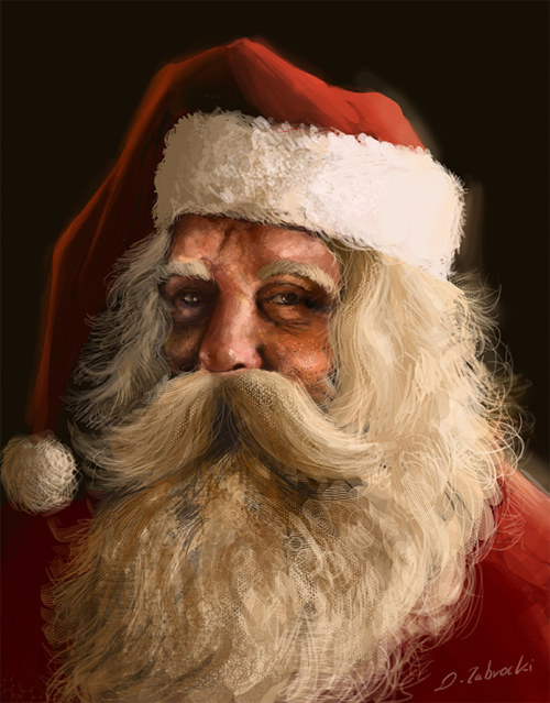 Portrait santa claus christmas artworks illustrations