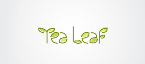 Cute nice leaf logo