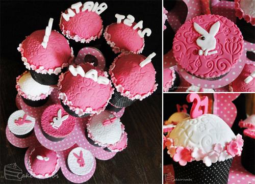 Playboy cupcake design inspiration