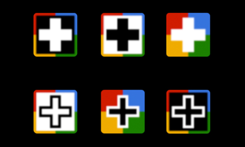 Google Plus Blurred icons