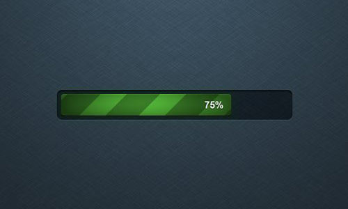 Green Loading Bar psd file