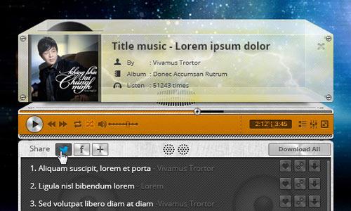 Retro Audio Player PSD