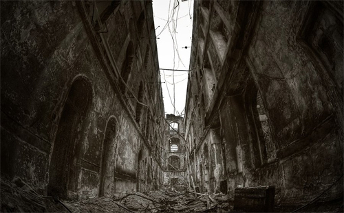 Abandoned end world illustrations