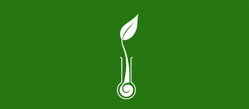 Chemical magical tube leaf logo