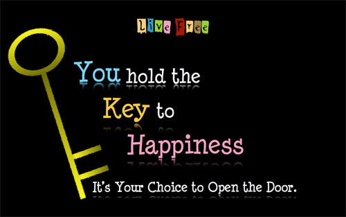 The Key To Happiness wallpaper
