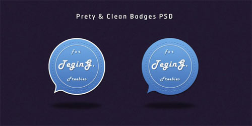 clean psd badges