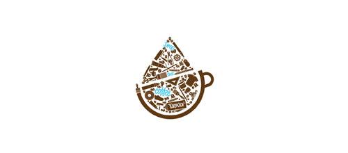 Drop that coffee logo
