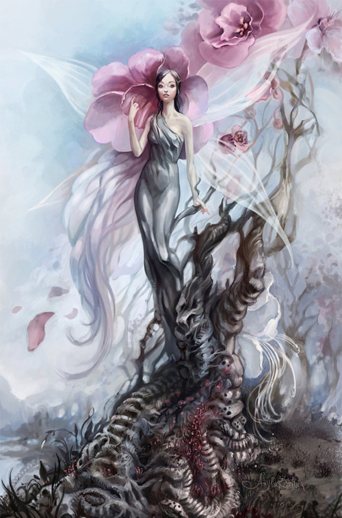 Flower fairy illustrations artworks