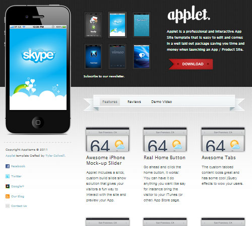 Applet - Interactive App Site Template